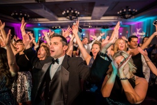 Crowd of people dancing at the 11th Annual Diamond in the Sky Gala