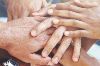One Name. One Family. Hands together photo