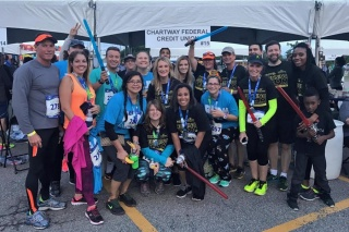 Chartway Running Team at the J&A Corporate 5K on May 4, 2017