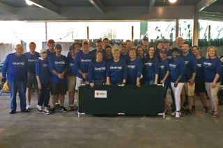 Chartway Board & Leaders Volunteer in Houston — group photo