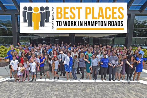 Chartway Best Places to Work in Hampton Roads group photo