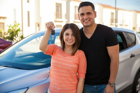 car buyers with new vehicle