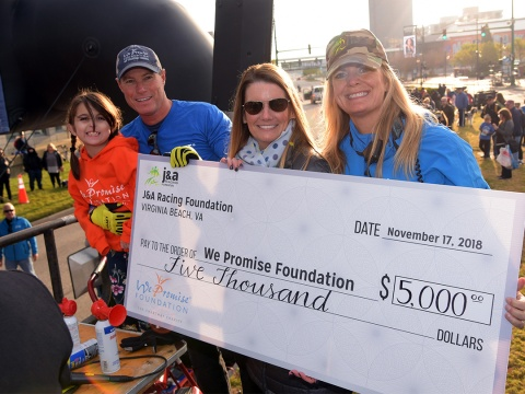 We Promise 5K Check Presentation