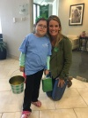 Abby and Karen Lane during St Patrick's Day events