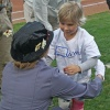 Mary Poppins and Hazel — Utah Bees game with Chartway and Make-A-Wish