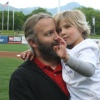 Hazel waves — Utah Bees game with Chartway and Make-A-Wish