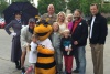 Hazel and friends — Utah Bees game with Chartway and Make-A-Wish