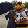 Mary Poppins, Hazel, and Utah Bee — — Utah Bees game with Chartway and Make-A-Wish