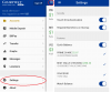 settings screen capture for Chartway Mobile Banking