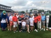 Chartway employees and Make A Wish child at baseball game