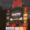 Utah Bee's scoreboard with Chartway logo onscreen at Smith's Ballpark