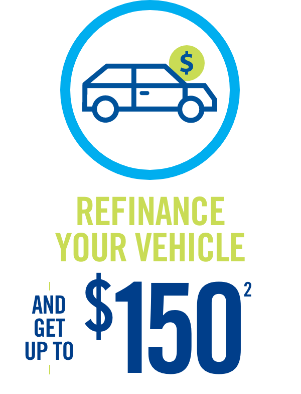 Refinance Your Vehicle and get up to $150(2)