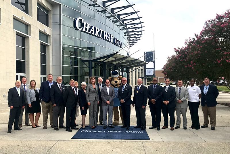 chartway arena officials ribbon cutting
