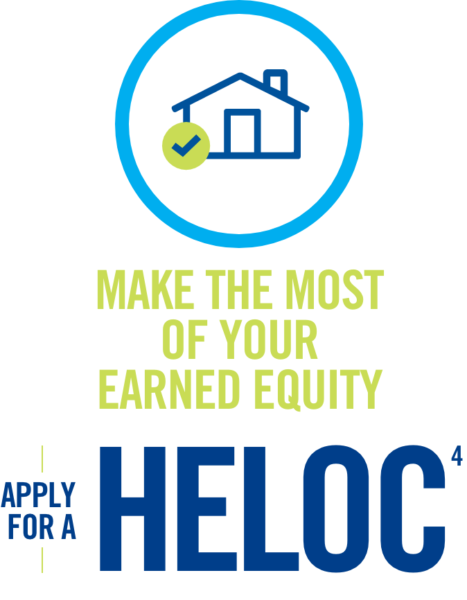 Make the most of your earned equity. Apply for a HELOC(4)